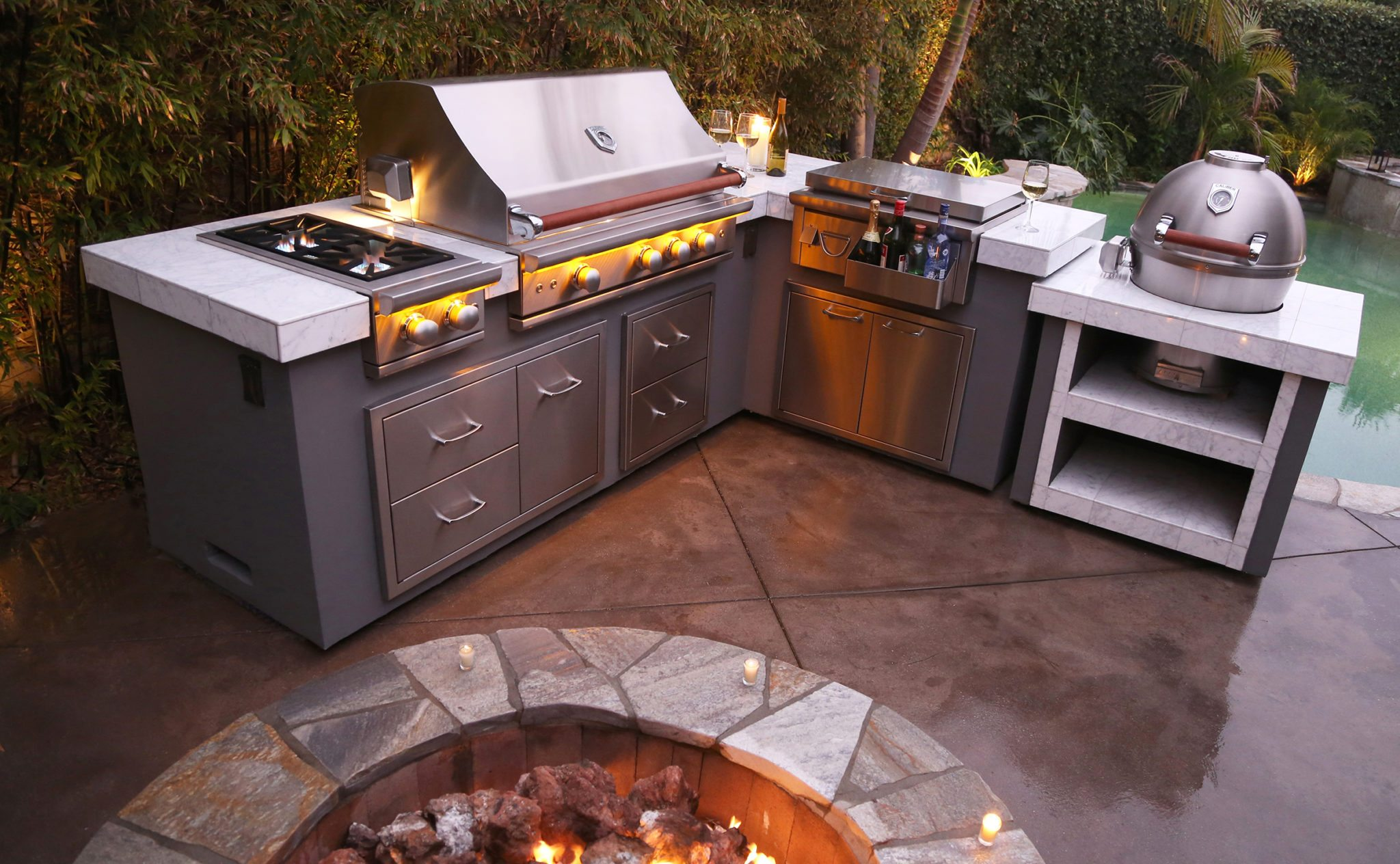 caliber professional grills outdoor kitchen